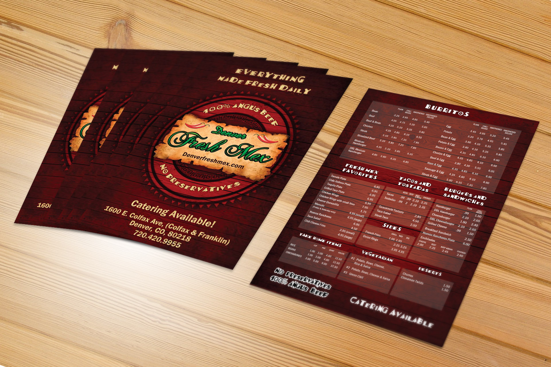 Menu Printing - New York City, NYC, Manhattan, The Bronx, Brooklyn, Queens, Staten Island, New York, NY